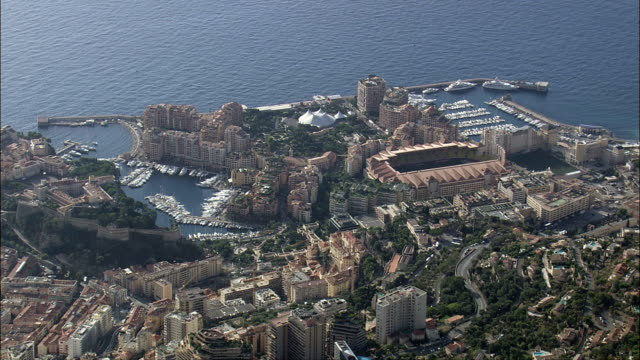 monaco  - aerial view -, monaco - monaco stock videos and b-roll footage