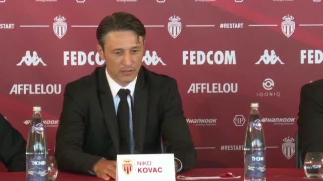 monaco appointed niko kovac as their new coach on sunday, the former bayern munich boss succeeding robert moreno - früherer stock-videos und b-roll-filmmaterial