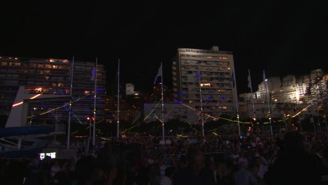 Monaco at night at the Monaco Royal Wedding Jean Michel Jarre Concert at Monaco