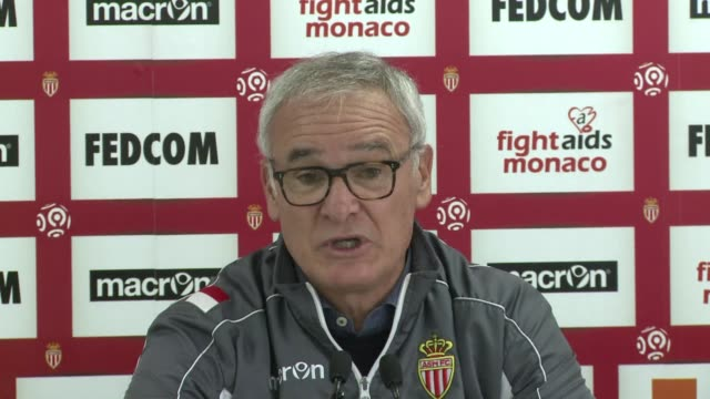 vídeos de stock, filmes e b-roll de as monaco currently in second place in frances ligue 1 are preparing for their match against olympique lyonnais on sunday clean as monaco in training... - olympique lyonnais