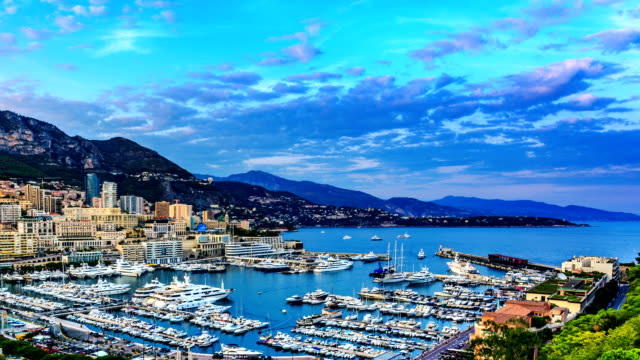 monaco harbour and marina in monte carlo - monaco stock videos and b-roll footage