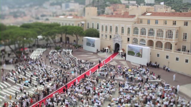 time lapse footage at monaco palace on july 02 2011 in monaco monaco - royal palace monaco stock videos and b-roll footage