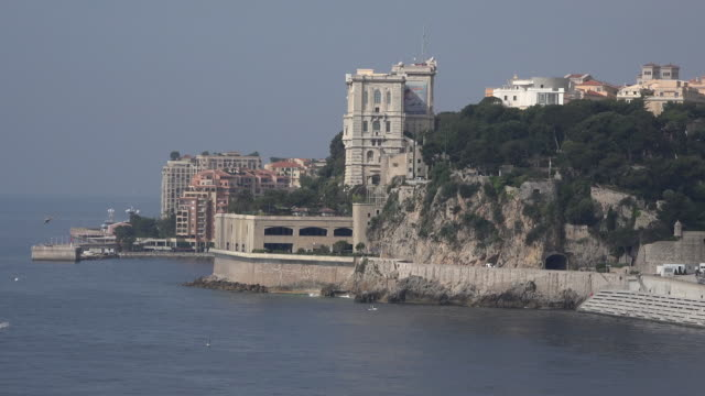 monaco view toward palace - royal palace monaco stock videos and b-roll footage