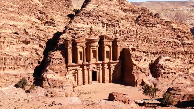 Monastery at Petra animal herd Petra, Jordan, Middle East