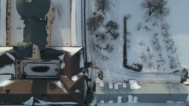 monastery in stoczek klasztorny from drone - 1953 stock videos & royalty-free footage