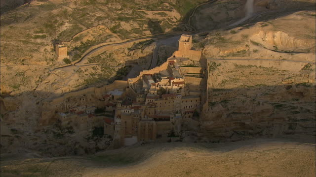 monastery mar saba (jordan) - jordan middle east stock videos and b-roll footage