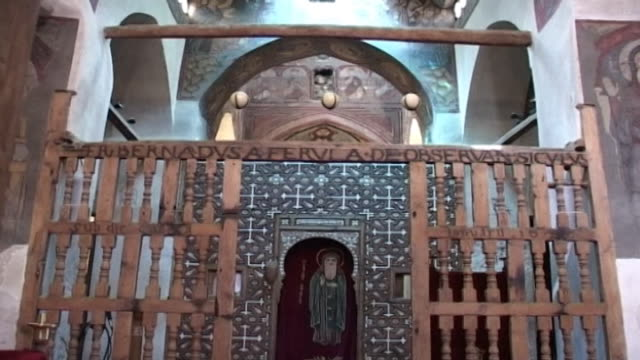 monastery of st. anthony. low angle view of the central sanctuary with its small apse and khurus. built in 300 ce the monastery of st. anthony is the... - apse stock videos & royalty-free footage