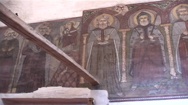 monastery of st. anthony. pl from icons of saints to the apse and khurus in the sanctuary. built in 300 ce the monastery of st. anthony is the oldest... - apse stock videos & royalty-free footage