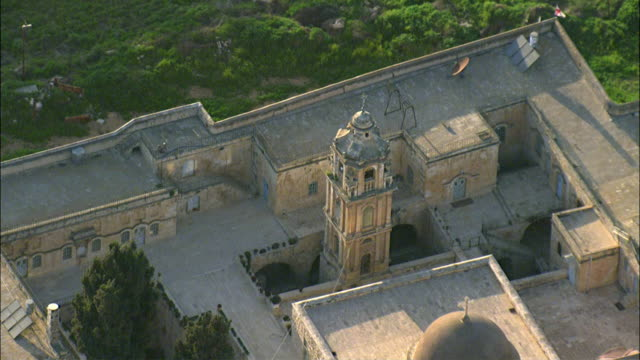aerial monastery of the cross / jerusalem, israel - etwa 11. jahrhundert stock-videos und b-roll-filmmaterial