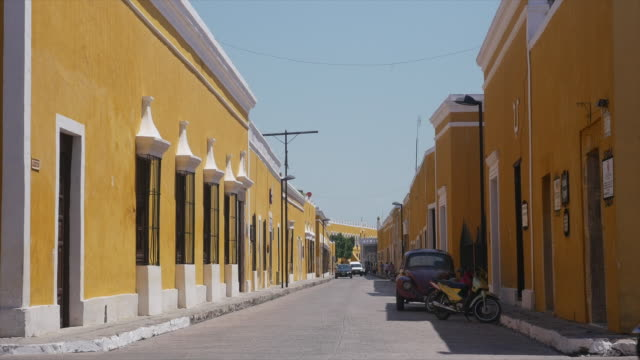 "monastery of the golden city"" of izamál, mexico - spanish culture stock videos & royalty-free footage"