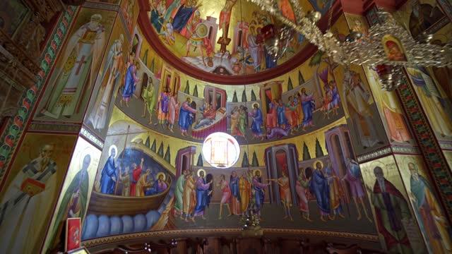 stockvideo's en b-roll-footage met monastery of the holy apostles - apostel