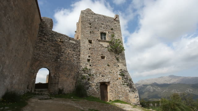 monastery - puig de maria /time lapse - monastery stock videos & royalty-free footage