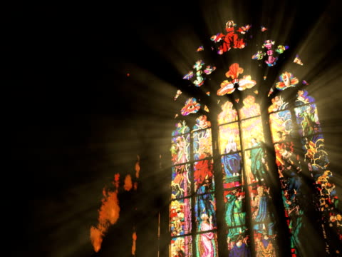 monastery window - catholicism stock videos & royalty-free footage