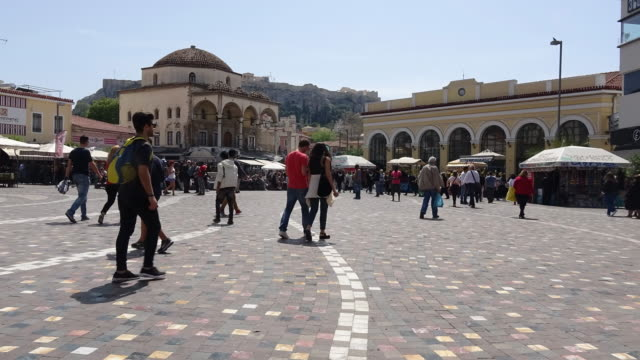 monastiraki square athens - athens greece stock videos & royalty-free footage