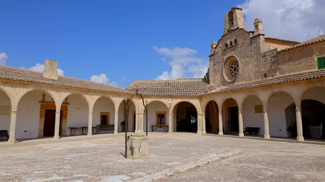 Monastry Santuari de Monti Sion on Balearic Island Majorca / Spain