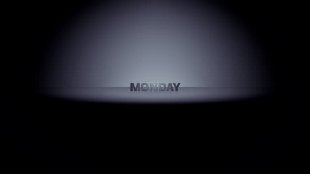 monday week day horizon zoom - weekend activities stock videos & royalty-free footage