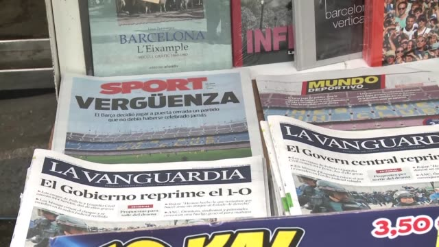 Monday's newspaper headlines in Barcelona following Catalonia's controversial referendum on Sunday