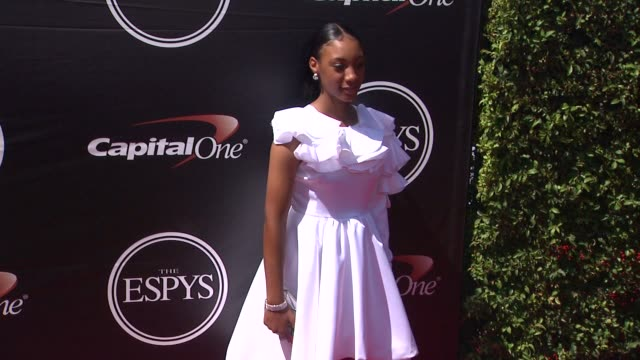 mo'ne davis at the 2015 espys at microsoft theater on july 15 2015 in los angeles california - microsoft theater los angeles stock videos and b-roll footage