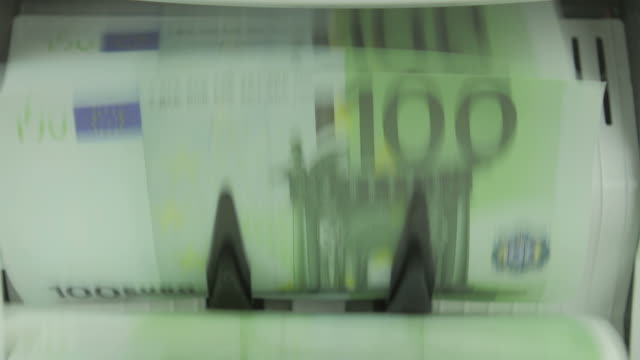money counting machine: euro - banknote stock videos & royalty-free footage