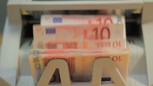 money counting machine - euro symbol stock videos and b-roll footage