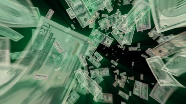 vídeos y material grabado en eventos de stock de dinero dólares de vórtice - benjamín franklin