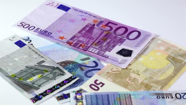 money - eu banknotes - home finances stock videos & royalty-free footage