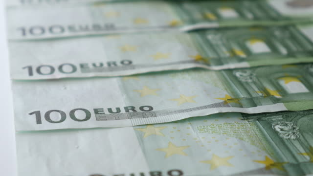 money euro banknote for business concept , 4k resolution (uhd) - printing out stock videos & royalty-free footage