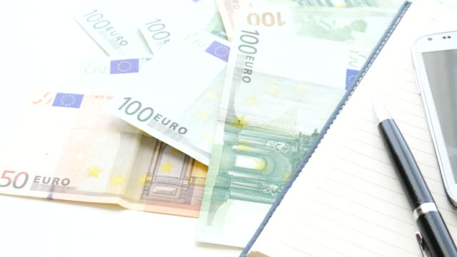 money euro banknote for business concept , 4k resolution (uhd) - classified ad stock videos and b-roll footage