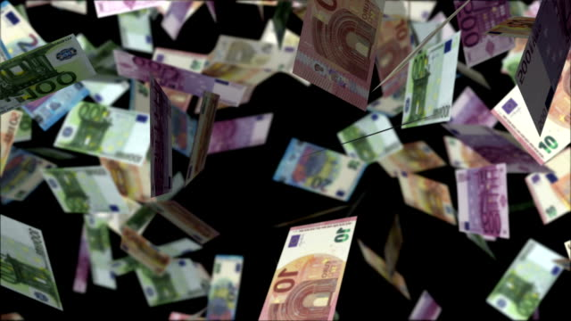 Money falling
