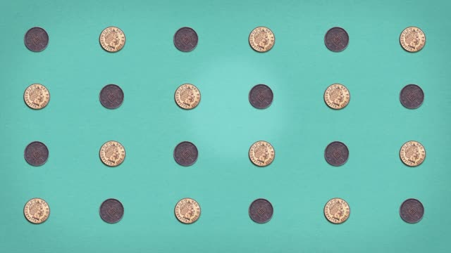 vídeos y material grabado en eventos de stock de money grid - pennies - stop frame animated - sencillez