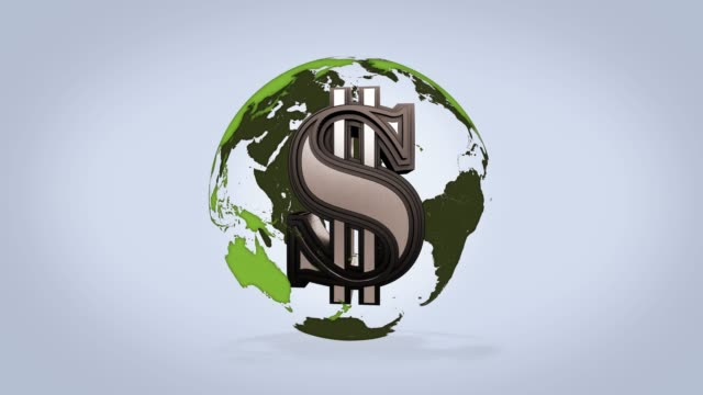 money makes the world go round - dollar and planet animation - symbol stock videos & royalty-free footage