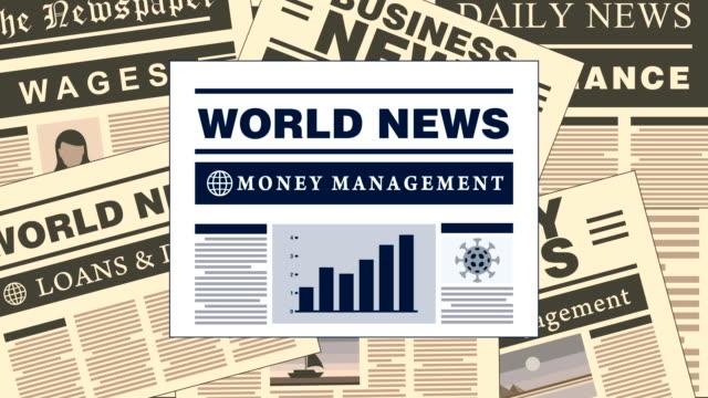 vidéos et rushes de money management nouvelles journaux headlines - editorial