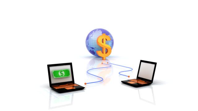 geld online - gehaltsstreifen stock-videos und b-roll-filmmaterial