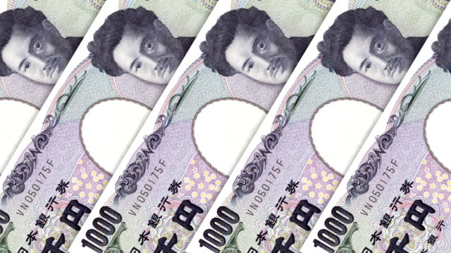 money paper currency japanese yen - money makes the world go around stock videos and b-roll footage