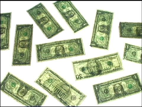vídeos de stock e filmes b-roll de money pattern - nota de cinco dólares dos estados unidos