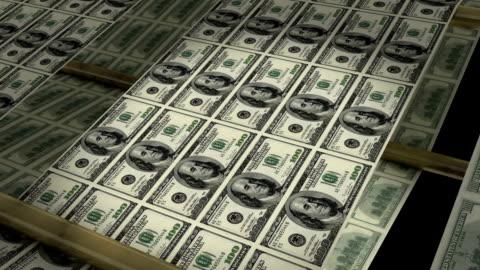 vídeos de stock e filmes b-roll de impressão dinheiro! (hd) - making money