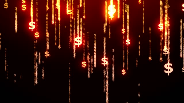 money rain - dollar symbol stock videos & royalty-free footage