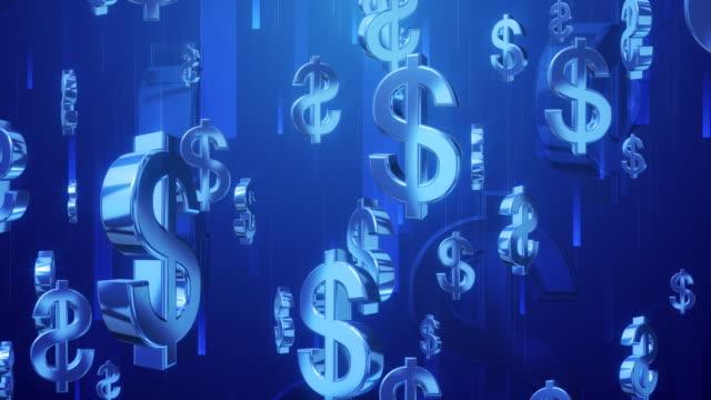 マネーシャワーブルー - 金利点の映像素材/bロール