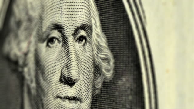 money stock video - cash 001 hd, 4k - george washington stock-videos und b-roll-filmmaterial