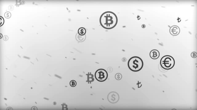money symbols background - bitcoin stock videos and b-roll footage