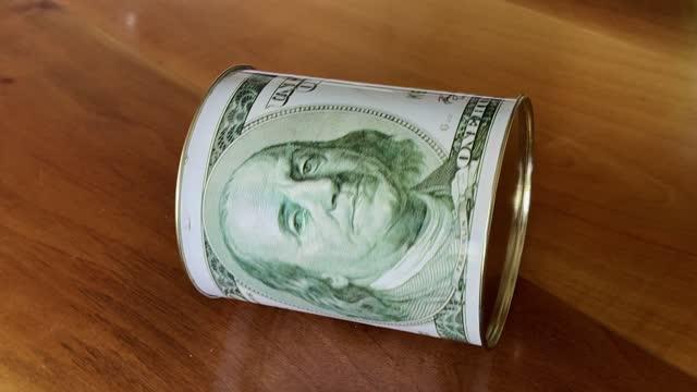moneybox - benjamin franklin stock videos & royalty-free footage