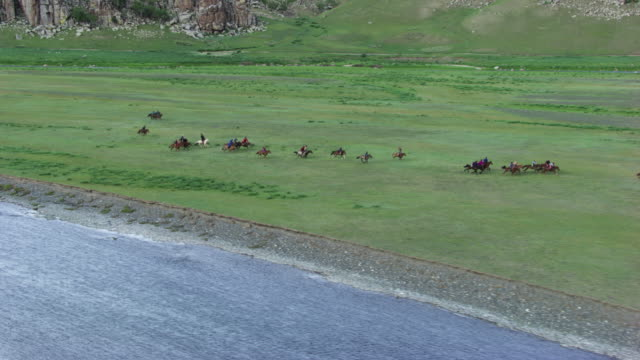 mongolia : horses and rider galloping - independent mongolia stock videos & royalty-free footage