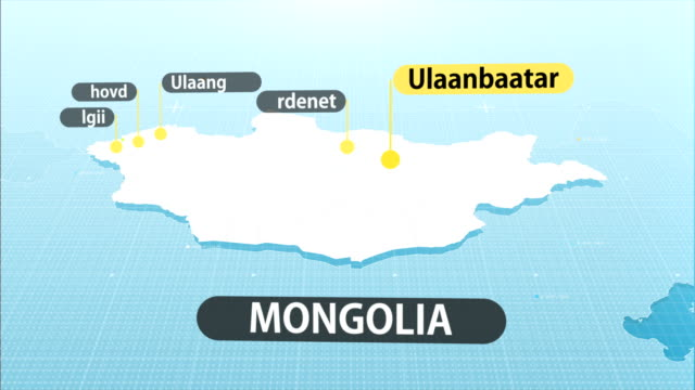 mongolian  map - independent mongolia stock videos & royalty-free footage