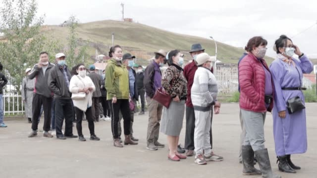 mongolians head to the polls with a host of coronavirus safety restrictions in place as debate raged over whether the elections should have been... - independent mongolia stock videos & royalty-free footage