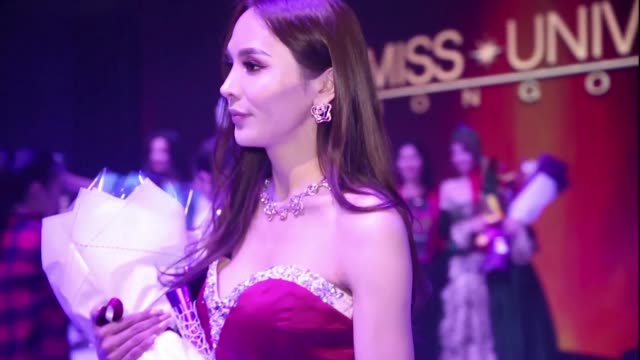 mongolia's trailblazing transgender beauty queen solongo batsukh breaks cultural taboos after stepping into the miss universe spotlight - beauty queen stock videos and b-roll footage