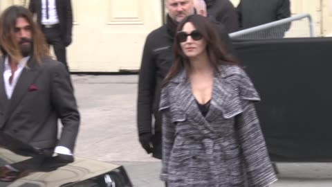 monica bellucci attends the chanel show as part of the paris fashion week womenswear fall/winter 2019/2020 on march 5, 2019 in paris, france. - celebrity sightings stock videos & royalty-free footage