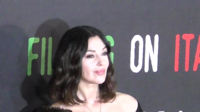 Monica Bellucci attends the On The Milky Road premiere at Harmony Gold Theatre in Los Angeles in Celebrity Sightings in Los Angeles