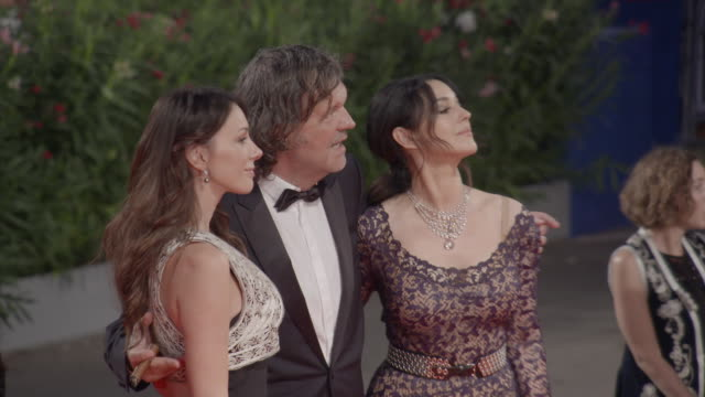 CLEAN Monica Bellucci Emir Kusturica Sloboda Micalovic at 'On the Milky Road' Red Carpet 73rd Venice Film Festival at Palazzo del Cinema on September...