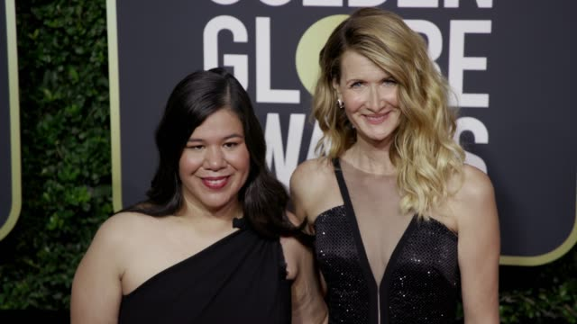 Monica Ramirez and Laura Dern at the 75th Annual Golden Globe Awards at The Beverly Hilton Hotel on January 07 2018 in Beverly Hills California