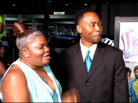 monique and sidney hicks at the hair show premiere arrivals at the magic johnson theaters in los angeles california on october 14 2004 - magic johnson stock videos and b-roll footage
